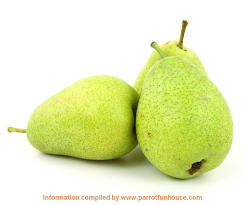 Safe fruits for birds pear