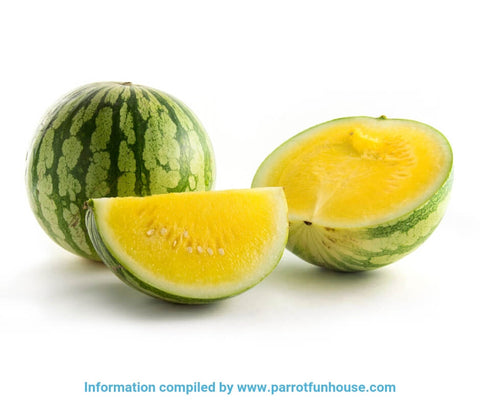 Safe fruits for birds yellow watermelon