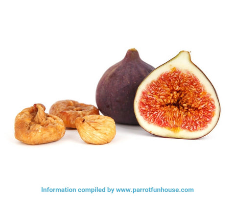 Safe fruits for birds fresh and dried figs
