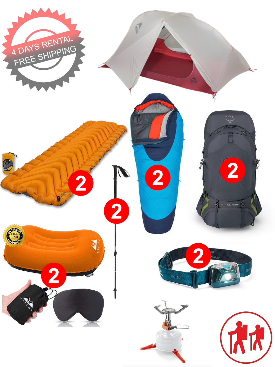2 person camping package