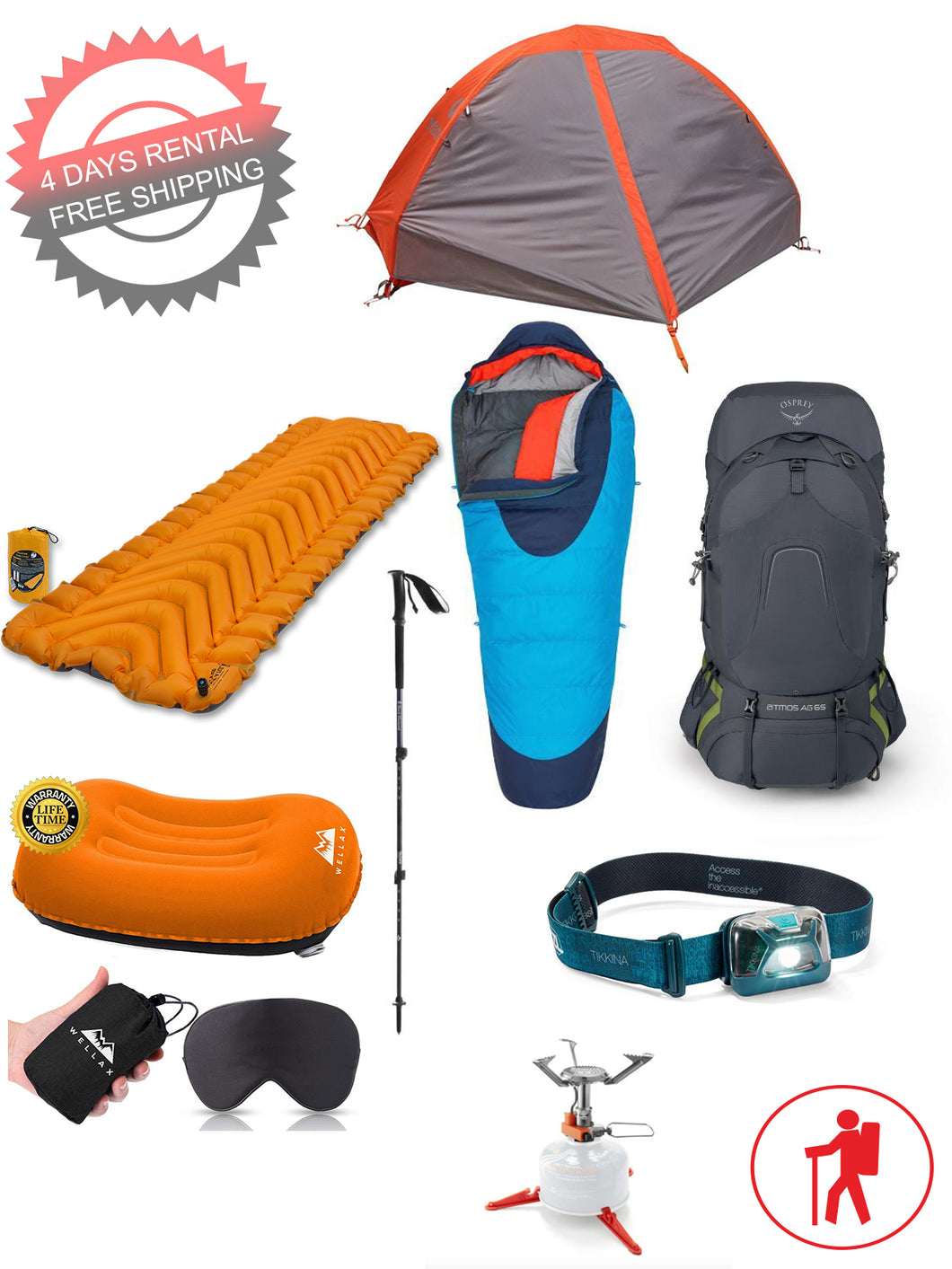 1 person camping package