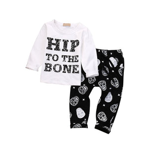 London- Skull Long Sleeve Set - Terrible Twos Boutique