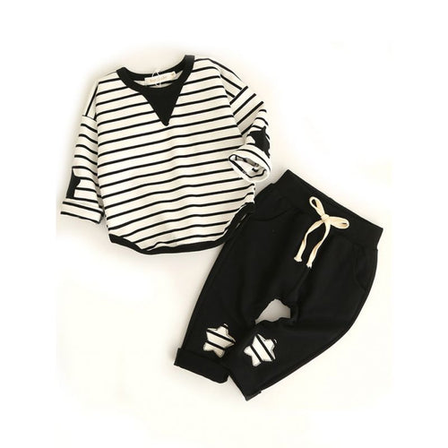 Taylor- Causal Striped Set - Terrible Twos Boutique
