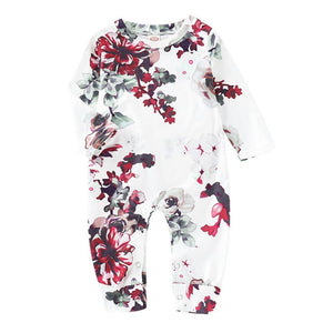 Taylor- Floral Romper - Terrible Twos Boutique