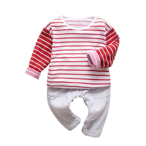 Peyton- Striped Jogger Set - Terrible Twos Boutique