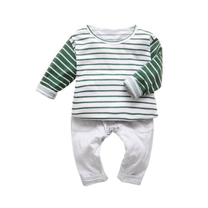 Casey- Striped Long Sleeve Set - Terrible Twos Boutique