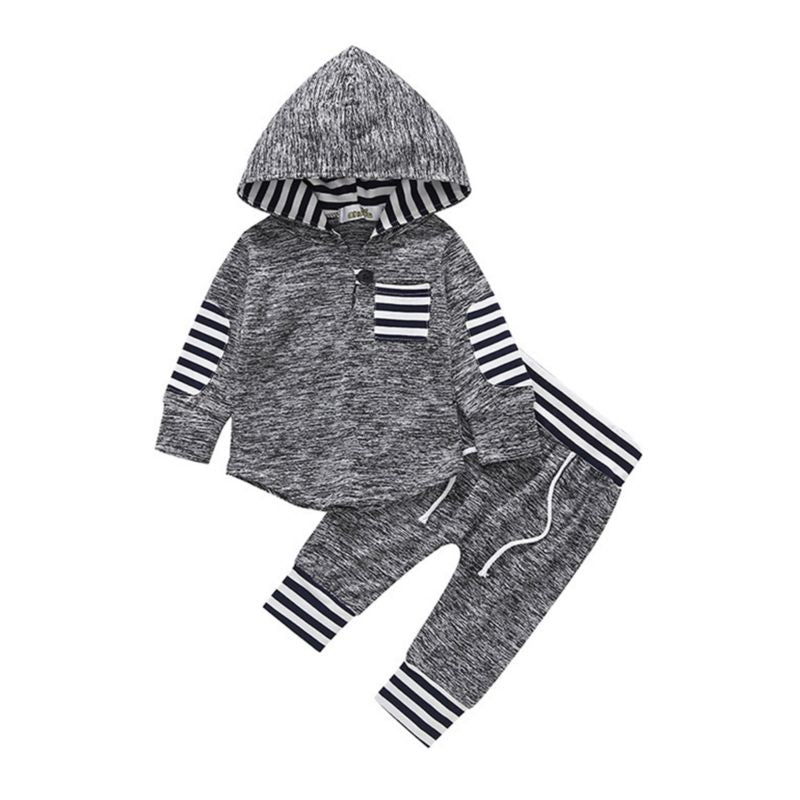 Alexander- Striped Jogger Set - Terrible Twos Boutique