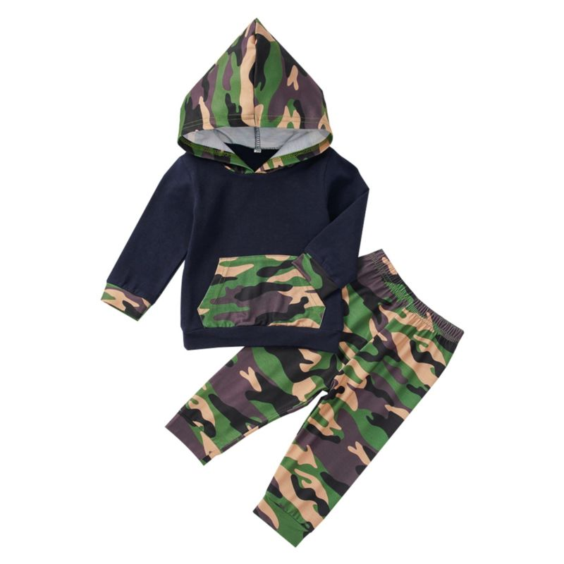 Drew-Camouflage Pullover Set - Terrible Twos Boutique