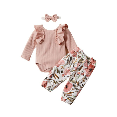 Rebecca- Ruffle Floral Printed Set - Terrible Twos Boutique