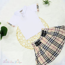Load image into Gallery viewer, Gabriella- Checkered Pattern Skirt Set - Terrible Twos Boutique