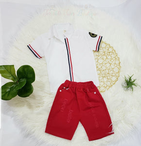 Carter- Polo Shirt Set - Terrible Twos Boutique