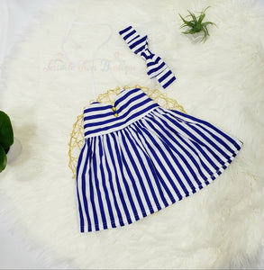 Audrey- Striped Dress - Terrible Twos Boutique