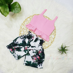 Cameron- Ruffle Top Short Set - Terrible Twos Boutique