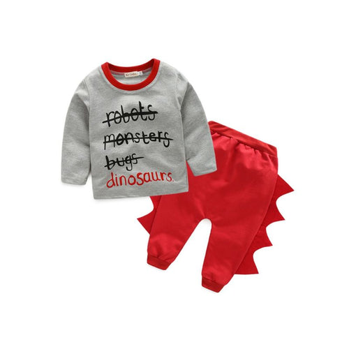 Jack- Dino Sweater Set - Terrible Twos Boutique