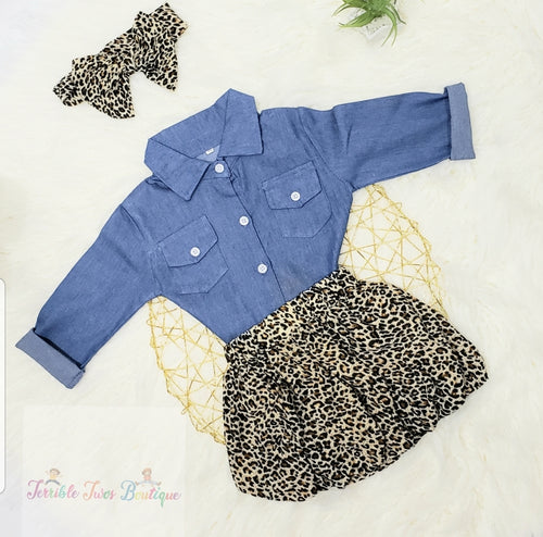 Arianna- Printed Skirt Set - Terrible Twos Boutique