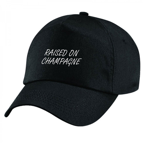 Raised On Champagne Handmade Quality Unisex Cap.