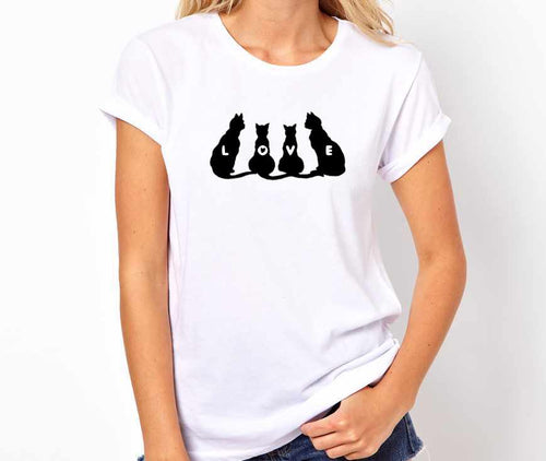 Cat Animal Lovers  Unisex Handmade Quality T Shirt Perfect Gift Item.