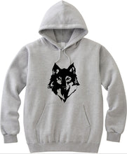 Load image into Gallery viewer, Wolf Inspired Unisex Handmade Quality Hoodie.