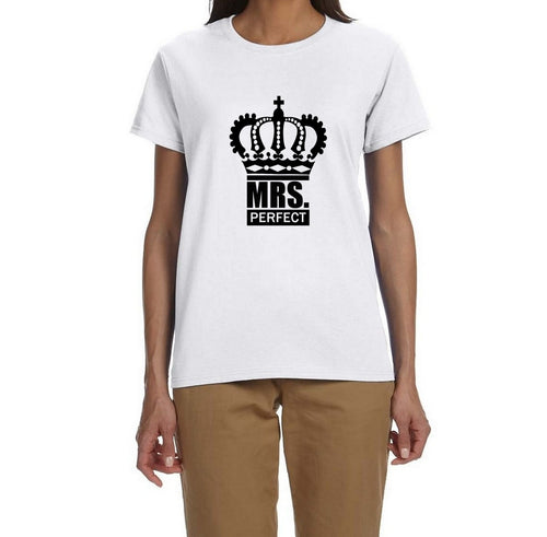 Mrs Perfect Unisex Handmade Quality T Shirt.