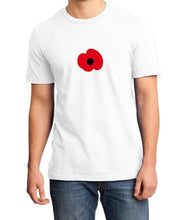 Load image into Gallery viewer, Poppy Remembrance World War Veteran Unisex Quality Handmade T Shirt.