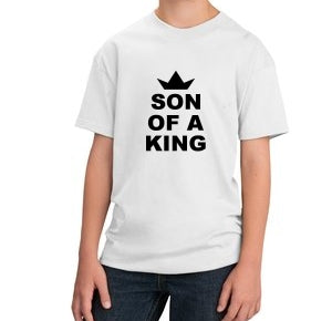 Son Of A King Unisex Kids Handmade Quality T-Shirt.