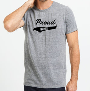 Proud Nurse Unisex Handmade Quality T-Shirt, Can Be Customize.