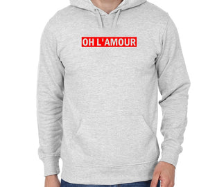 Oh L' Amour Unisex Handmade Quality Hoodie.