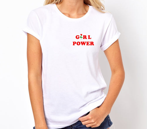 Girl Power Unisex Quality Handmade T Shirt.