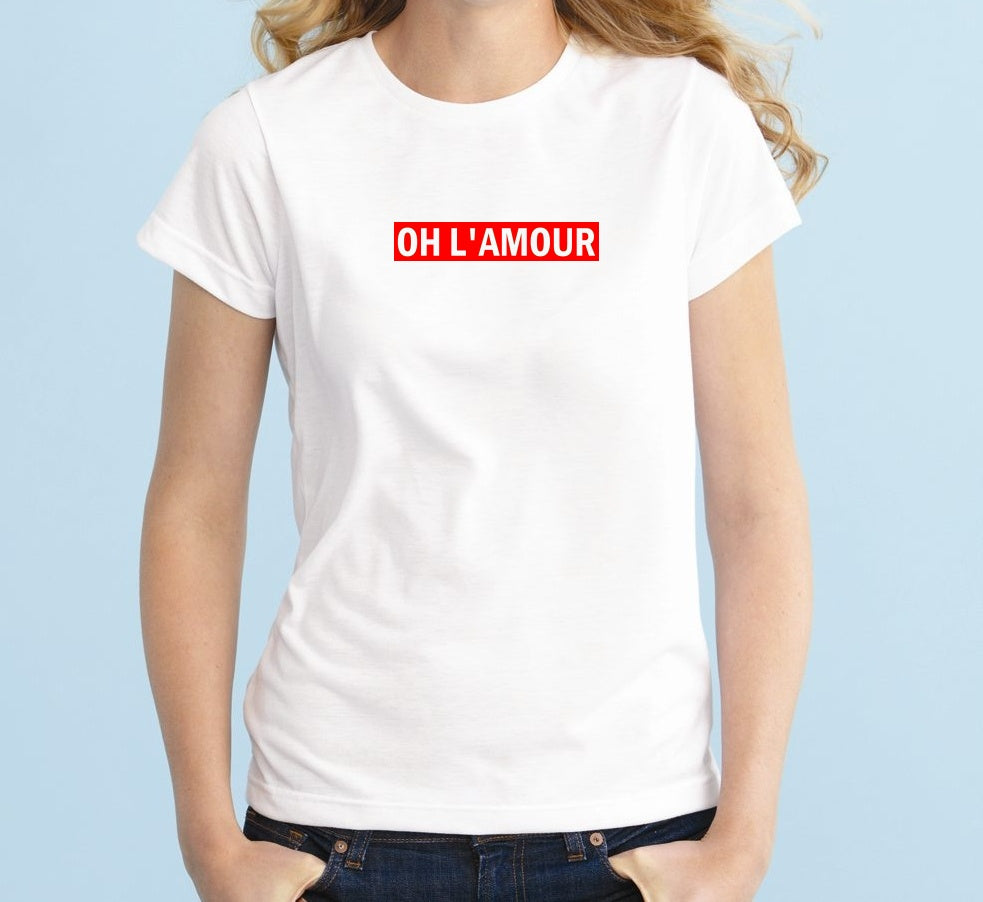 OH L' AMOUR Unisex Quality Handmade T-Shirt.