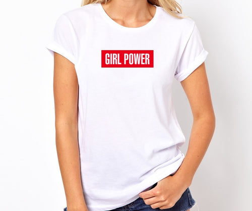 Girl Power Handmade Quality T- Shirt.