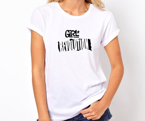 Girl Revolution Unisex Handmade Quality T- Shirt.