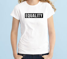 Load image into Gallery viewer, Equality Unisex Handmade Quality T-Shirt.