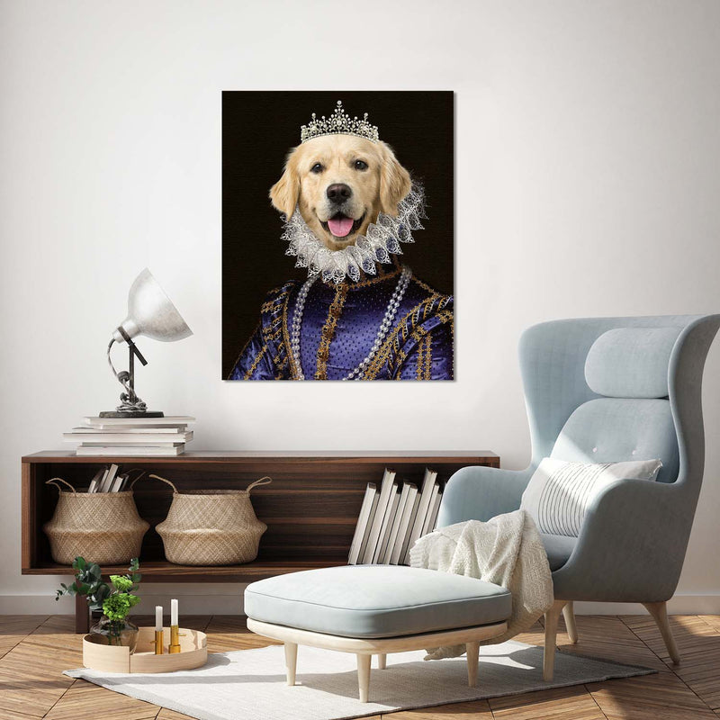 Custom pet portraits, dog portrait, regal pet, cat, dog
