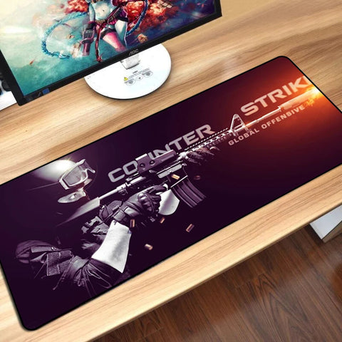 CS: GO Print Overlock Edge Gaming Mouse Pad