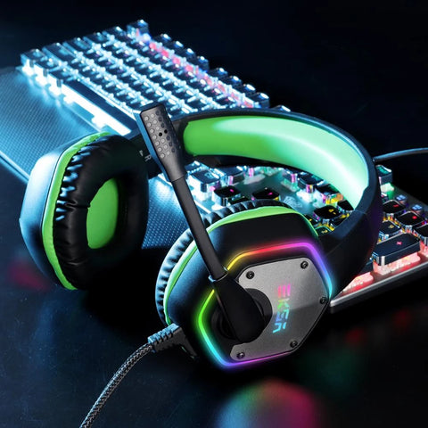 EKSA E1000 Colorful LED Light Gaming Headphone