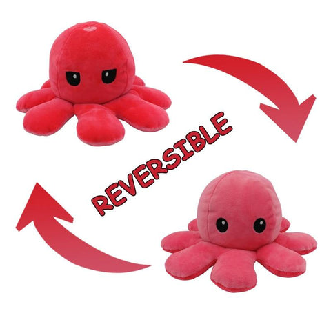 Flip Octopus Happy & Angry Stuffed Plush Doll | Shop For Gamers
