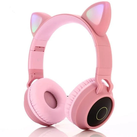 Cute LED Cat Ear Bluetooth Headphones