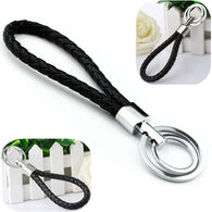 Leather Strap Weave Rope Keychain  - Shop For Gamers