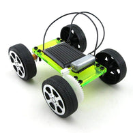 1 Set Mini Solar Powered Toy DIY Car