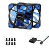 120mm LED Ultra Silent Computer PC Case Fan - Shop For Gamers