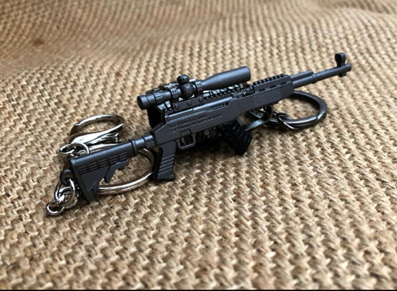 12cm FPS PUBG Game 7.62mm Bullet Weapon Model SKS Key Chain - Shop For Gamers