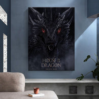 House of the Dragon Movie Wall Canvas Art Poster - Shop For Gamers