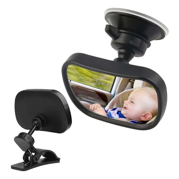 2 in 1 Mini Car Safety Back Seat Mirror Rearview Adjustable - Shop For Gamers