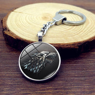 Game of Thrones Keychain Glass Round Dome - Shop For Gamers