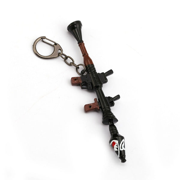 Metal Arms Shark Cannon Rocket Launcher Pickaxe Key Chain - Shop For Gamers