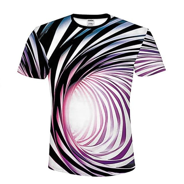 Black And White Vertigo Hypnotic T-Shirt - Shop For Gamers