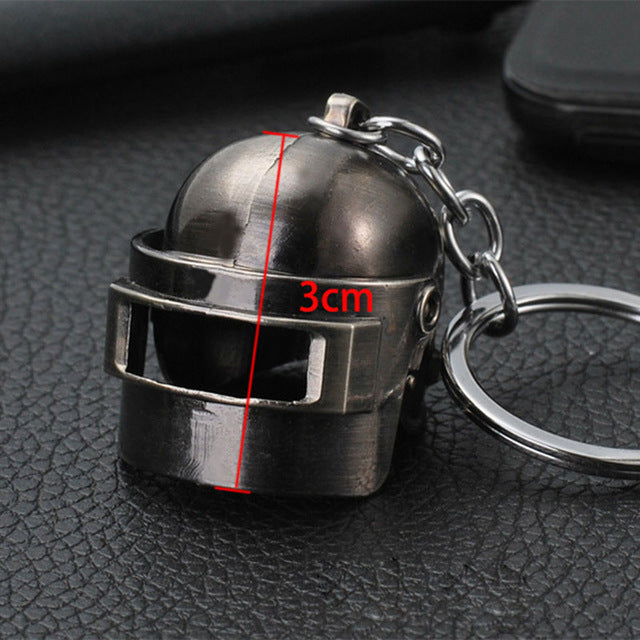 PUBG Copper Keychain Helmet And Guns 98K