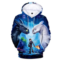 2019 How to Train Your Dragon Print Hoodies - Shop For Gamers