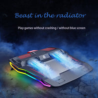 RGB Air Flow Cooling Pad For 12-17 inch Laptop - Shop For Gamers