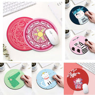Cartoon Animal Pattern Round Mouse Pad - Shop For Gamers